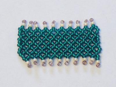 Tutorial perline (Netted): Come fare una fascia di perline con la tecnica Netted | Tutorial Perline