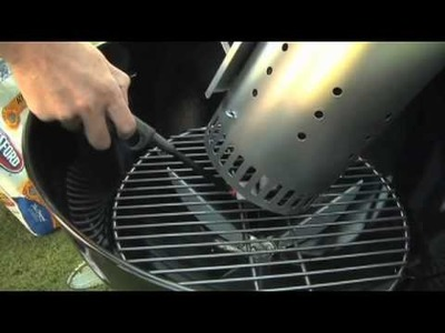 Weber Grills-Setting Up a Two-Zone Charcoal Fire