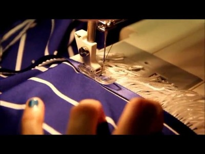 Aminah of the House of Zephaniah: How to sew on Fringes and Border of Blue - 2 Straight stitches