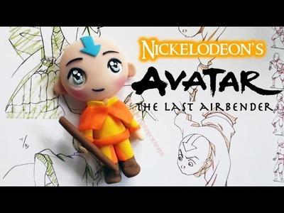 Avatar Aang Chibi Polymer Clay Tutorial. Arcilla Polimérica