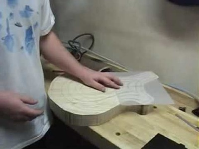 Carving the Top on an Electric Guitar Part1