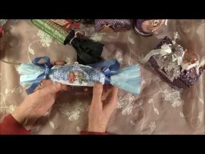 Christmas cards, feather angel and Christmas gift wrapping- Tutorial