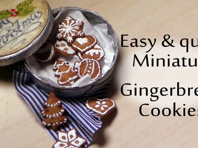 EASY; Gingerbread Cookies - Polymer Clay Miniature Food Tutorial