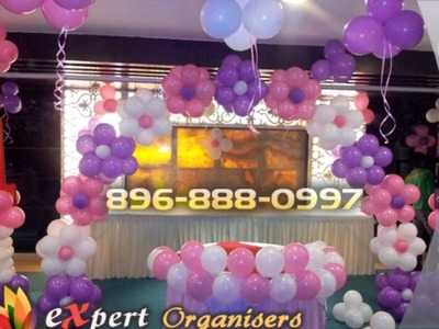 Expert Birthday Balloon Decoration in Chandigarh, Mohali, Panchkula, Birthday Planners Chandigarh