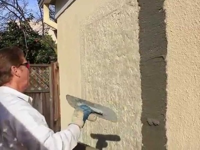 Fix a bad, ugly or wrong stucco texture, Plaster patch made simple