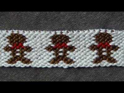 ► Friendship Bracelet Tutorial - Advanced - Gingerbread Boys (original)