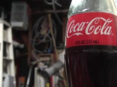 Glass Coke Bottle Plant Waterer