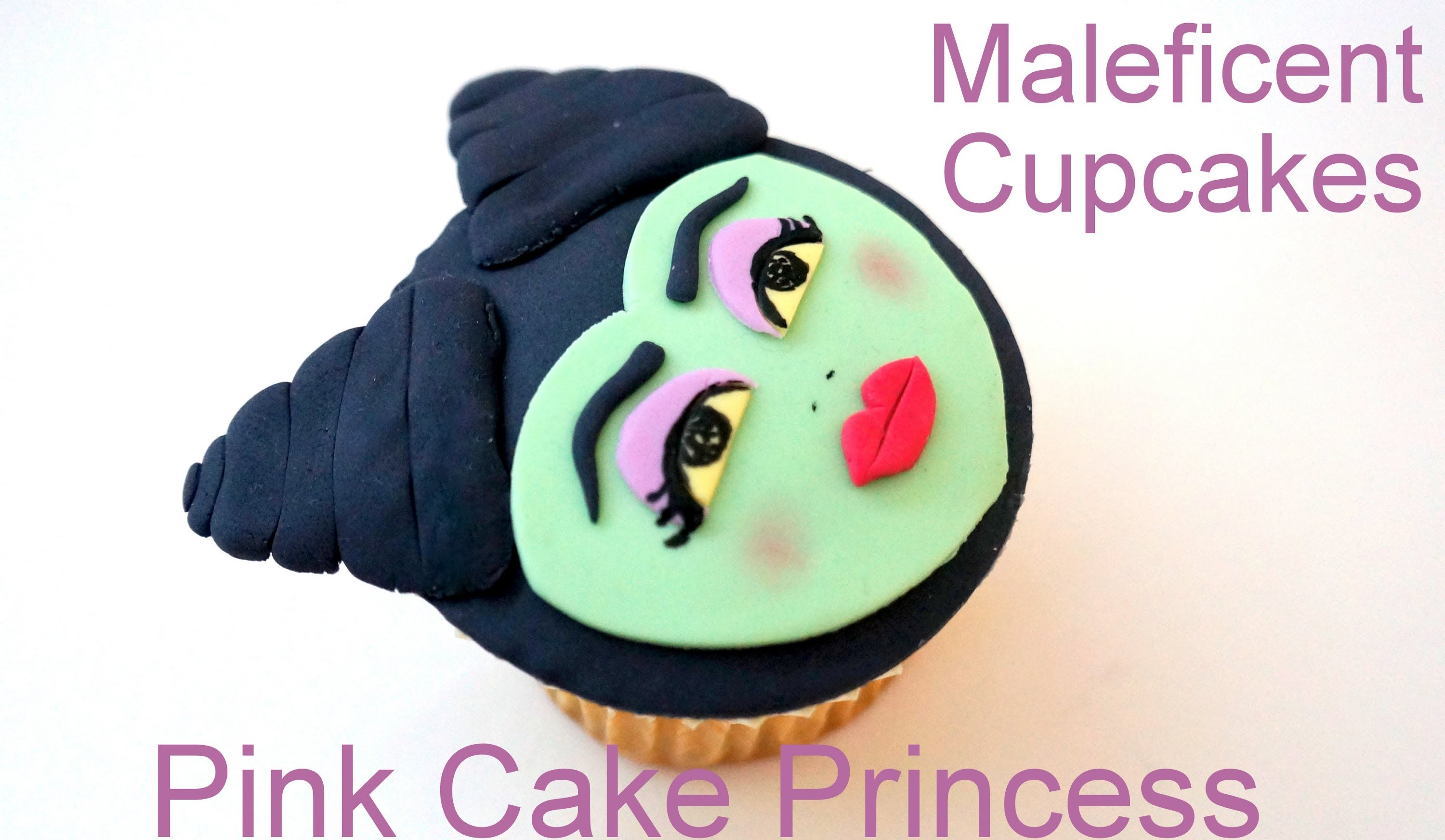 Halloween Maleficent Cupcake Decorating How to by Pink Cake Princess