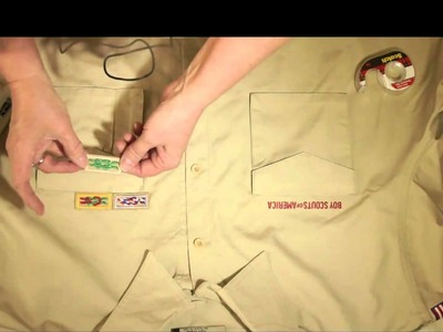 How To: Boy scout shirt