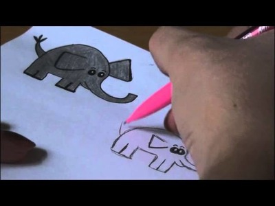 How to Draw: 4 ELEPHANT Doodles