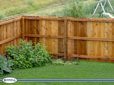 HOW TO INSTALL A CEDAR FENCE!!  Part 1