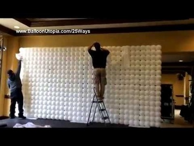 How to Make a Balloon Wall