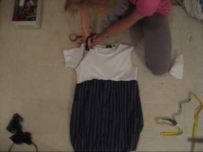 How To make a brand new dress out of an old flannel and a shirt!