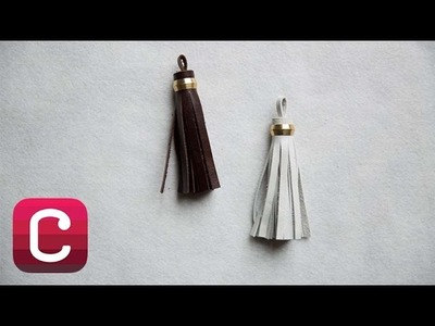 How to Make a Leather Tassel with Elke Bergeron I Creativebug