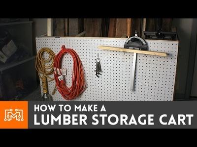 How to make a lumber storage cart