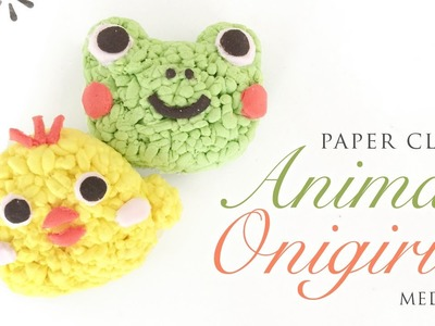 Kawaii Animal Onigiri - Paper Clay Tutorial with ASMR