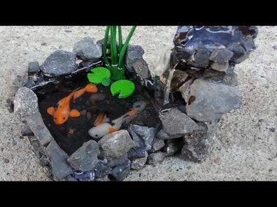 KOI POND WATERFALL Polymer Clay Tutorial