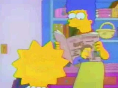 Lisa Simpson asking for a permission