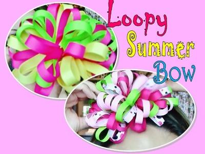 Loopy Summer Hair Bow Tutorial