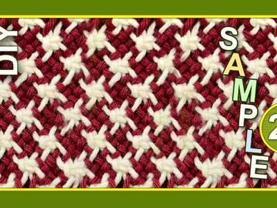 Macrame ABC - pattern sample #26 with Stars