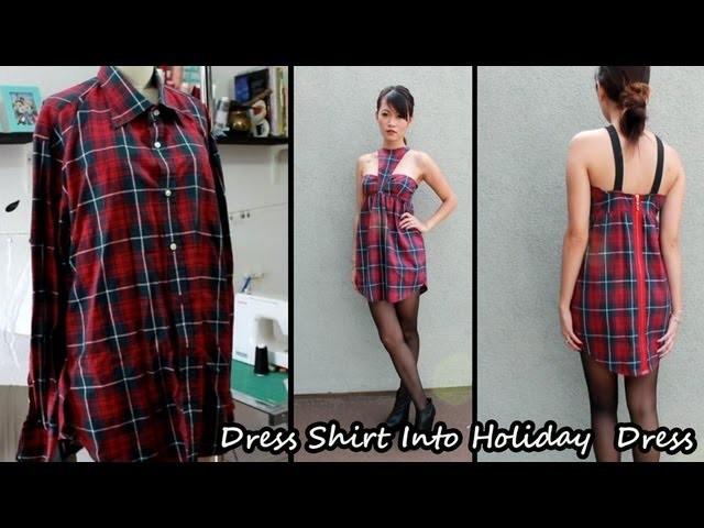 Men's Dress Shirt Into Dress Part 1