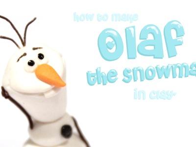 Olaf the Snowman- Polymer Clay tutorial