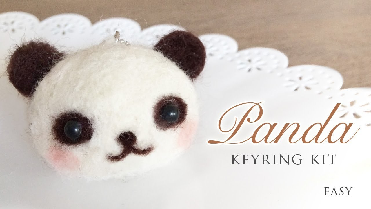 Panda Keyring Kit - Needle Felt Tutorial with ASMR