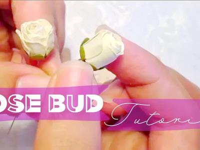 Paper rose bud tutorial!