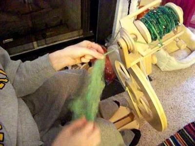 Part 5 of Corespinning Demo- Ending your corespun yarn