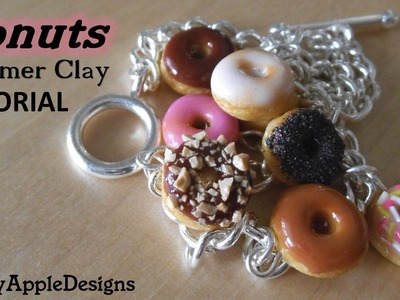 Polymer Clay Donut.Doughnut Charms Tutorial