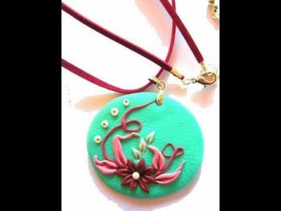Polymer clay jewelry - MKdesigns - Polymer Clay Handmade Pendants