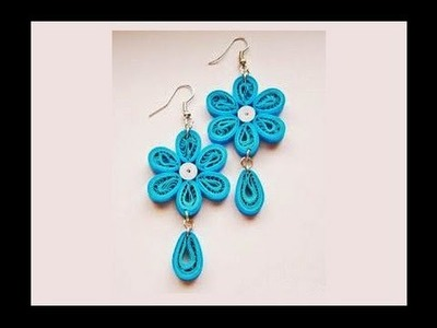 Quilling paper Earrings Making with Comb   earrings making designs - earrings making designs