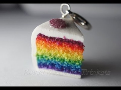 Rainbow Cake Tutorial, Miniature Food Tutorial, Polymer Clay Food Tutorial