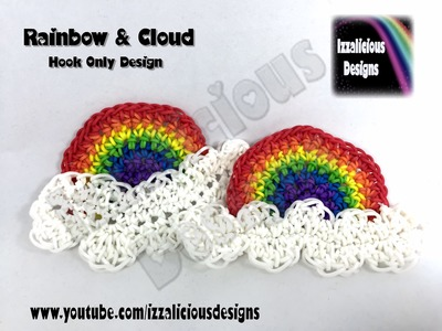 Rainbow Loom - Rainbow & Cloud Charm - Hook Only (Loom-less.Loomless) Design