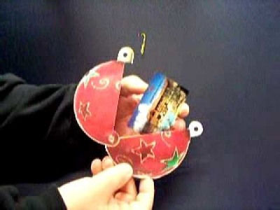 Round Ornament Gift Card Holder
