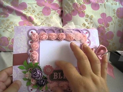 Shadow box and 2 Double Tri-Shutter Mini Albums with 3 Magnolia Tilda cards