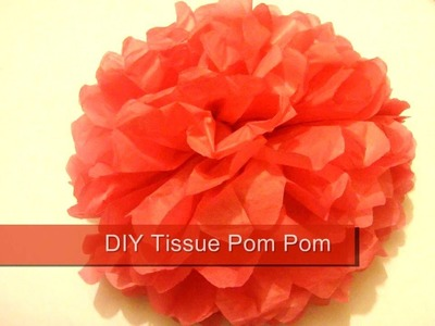 Tissue Pom Pom. How To Make Paper Pom Poms. Wedding Decor