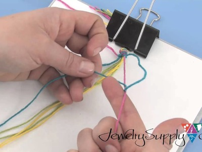 Using Hemp Cording to make a Chevron Friendship Bracelet