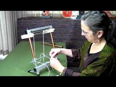 Warping a Mirrix Loom with the Extra Warping Bar Kit