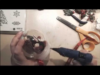 Waterless Christmas Snowglobe Tutorial
