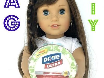 American Girl Paper Plates