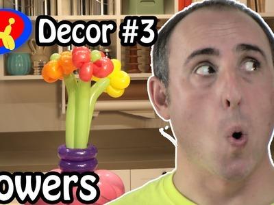Balloon Flowers Centerpiece - Balloon Decor Lessons #3