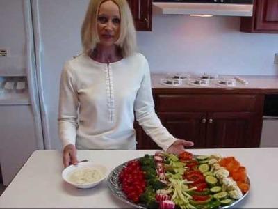 Betty's Fourth of July Celebration Veggie Relish Tray