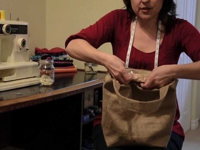 Burlap Tote Tutorial - Spools and Bobbins Sewing - Halifax NS