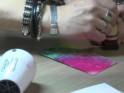 CHA2015 Tim Holtz Ranger Demo: Texture Paste with Distress, and Coloring Metal and Resin