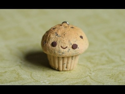 Chocolate Chip Cupcake Polymer Clay Tutorial