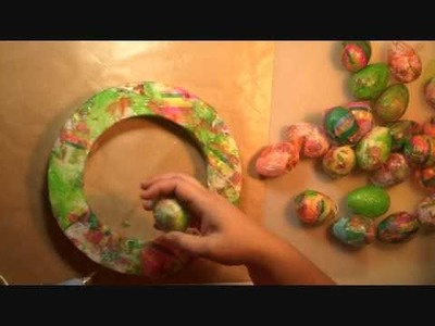 Day11: Easy Easter Egg Wreath