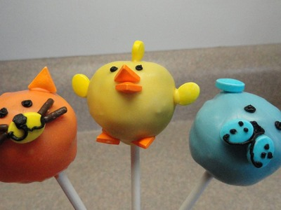 Dog, Cat, Chick Cakepops (Wilton Sprinkle Set Demo)