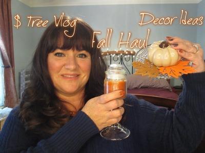 Dollar Tree Vlog, Fall Decor Haul, and Decorating Ideas