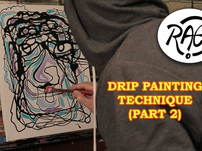 DRIP PAINTING TECHNIQUE (PART 2) Acrylic Painting on Canvas VIBRANT COLOUR!